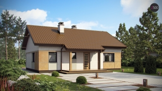 проект дома 78 м2 (z253) 7200 грн.