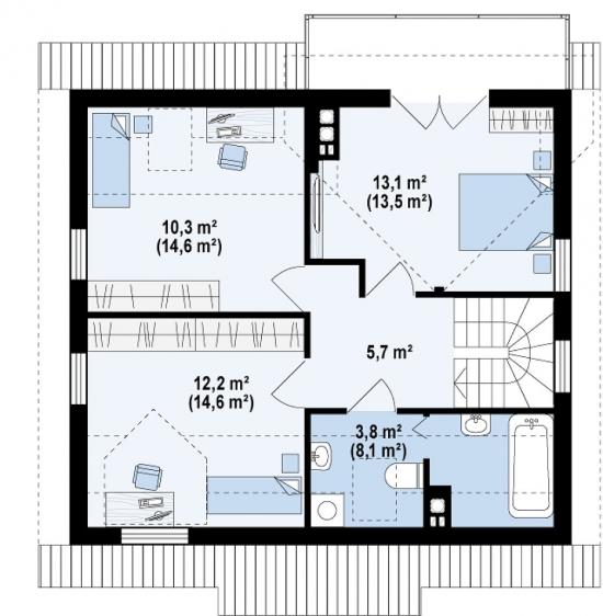 проект дома 112 м2 (Z3) 8900 грн.